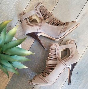 Isola Tan Leather Cutout High Heel